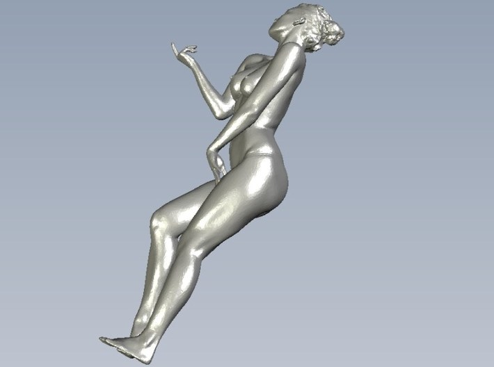 1/15 scale nude beach girl posing figure B 3d printed
