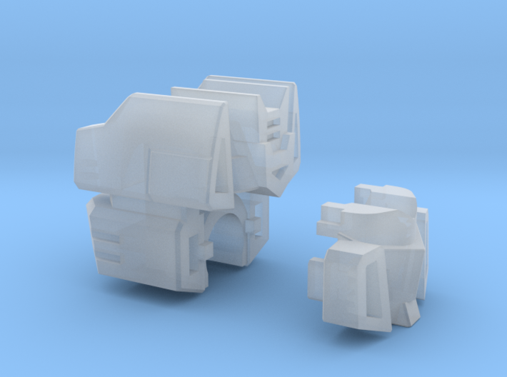 Communications Officer Head for CW Deluxe Truck 3d printed