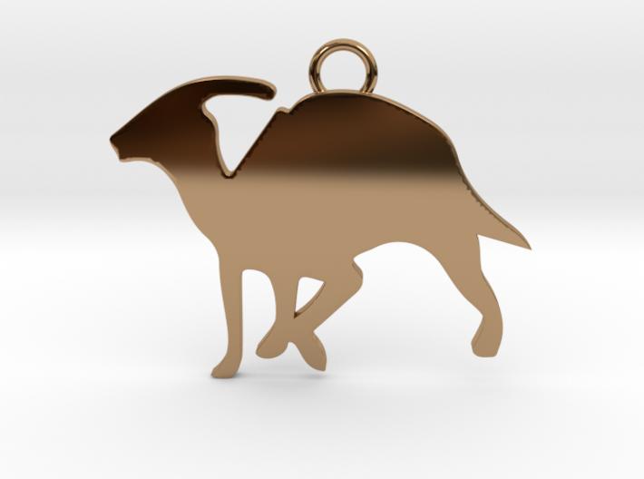 Parasaurolophus necklace Pendant 3d printed