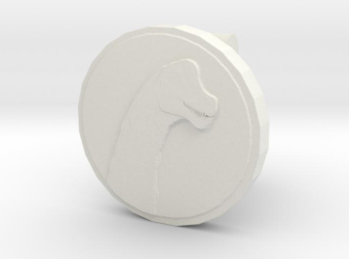 Sauroposeidon Cufflink 3d printed