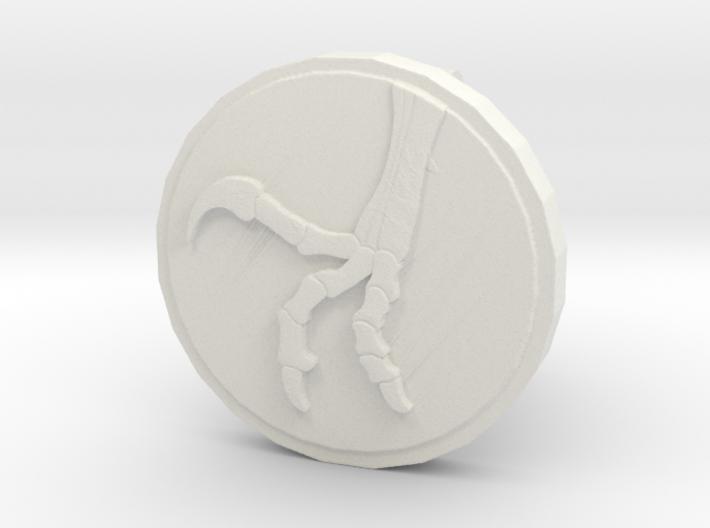 Raptor Claw Cufflink 3d printed