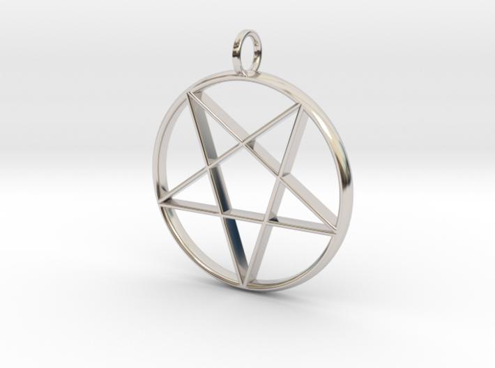Eastern Star Pendant 3d printed