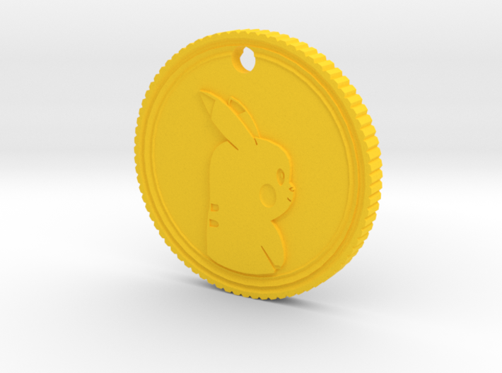 PokeCoin Medal 3d printed