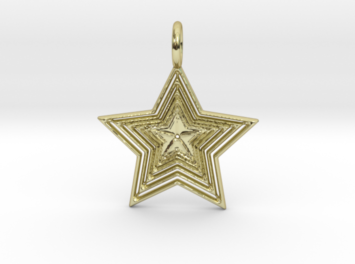 Star No.1 Pendant 3d printed