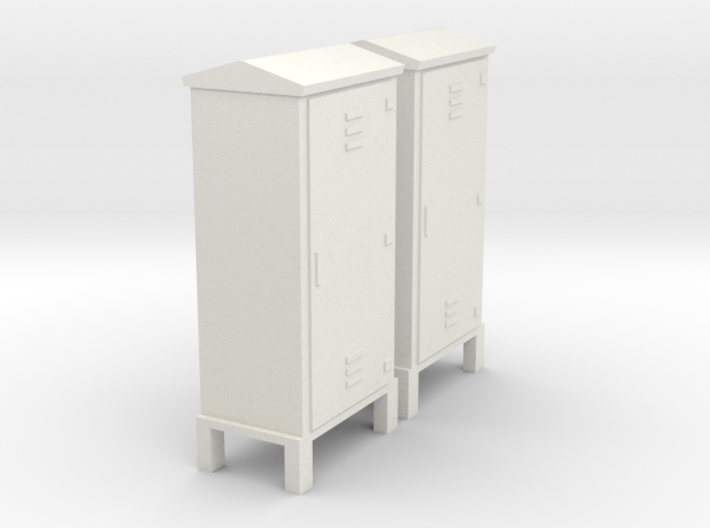 Electrical Cabinet With Legs 1-87 HO Scale 3d printed