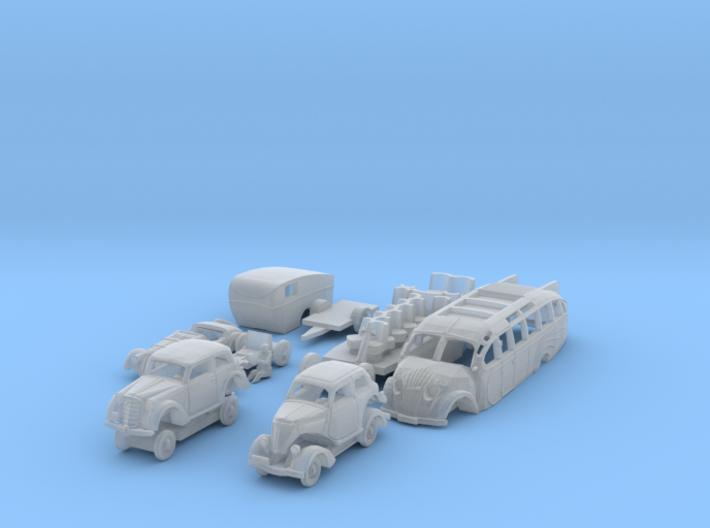 BONUS SET Stromlinienfahrzeuge (1/144) 3d printed