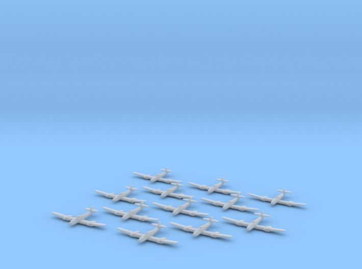 Blohm & Voss BV-155 1:1250 x12 3d printed