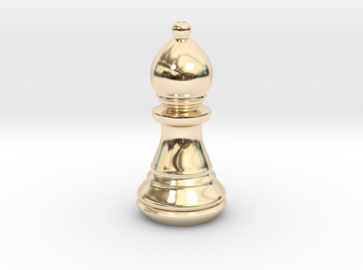 Chess Set Bishop 3d printed