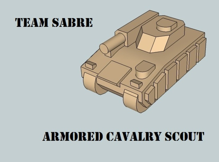 """""""Team Sabre"""" 3mm Tracked Armor HQ Section (14pcs) 3d printed"""