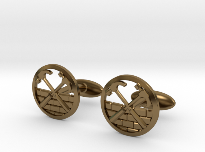The Wall Cuff Links 3d printed