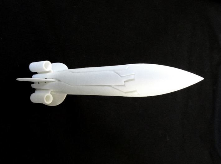 RocketCopter 3d printed In White Strong & Flexible