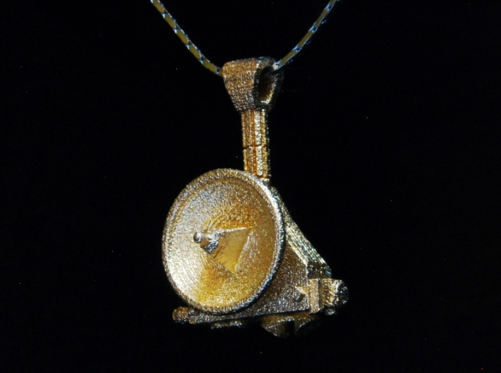 New Horizons Pendant 3d printed chain shown for display only