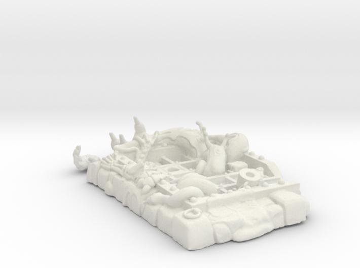 WCV CG Dungeon Grate Kit 2.0 3d printed White Render