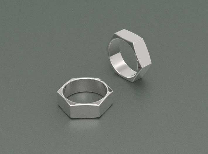 Ring Nut 3d printed