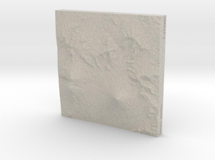 4''/10cm Antigua Guatemala, Sandstone 3d printed