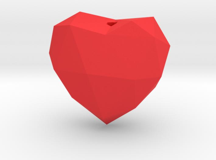 Heart Facet Pendant 3d printed