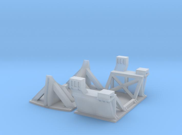 1/87 Boeing Fuselage Cradles for flatcar 3d printed