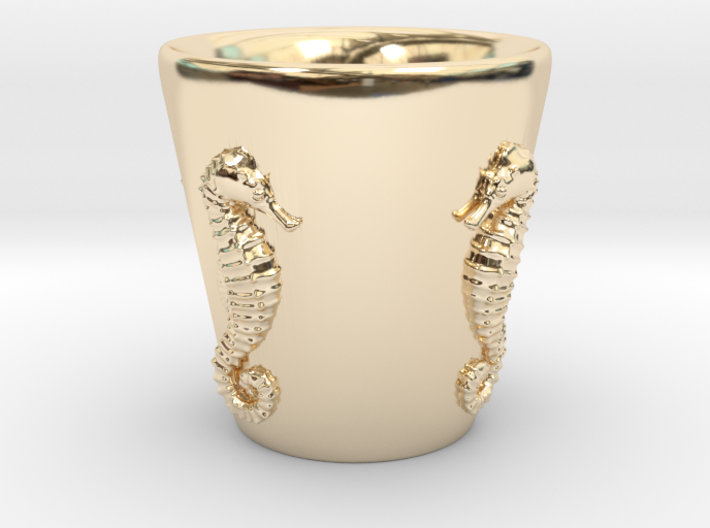 Seahorse Shot Glass 3d printed