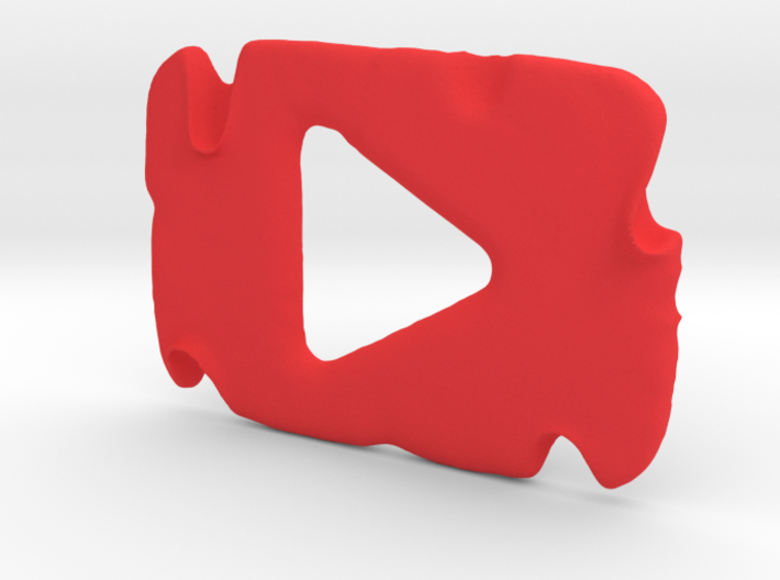 Destroyed YouTube Play Button 3d printed