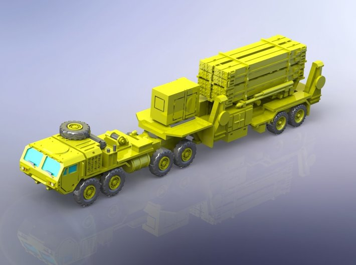 MIM 104 PAC-3 Patriot SAM Launcher & Tractor 1/285 3d printed