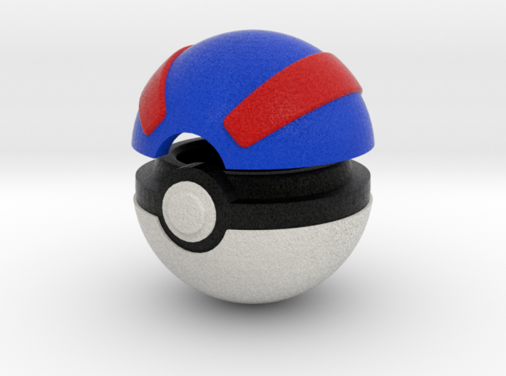 Pokeball (Great) 3d printed