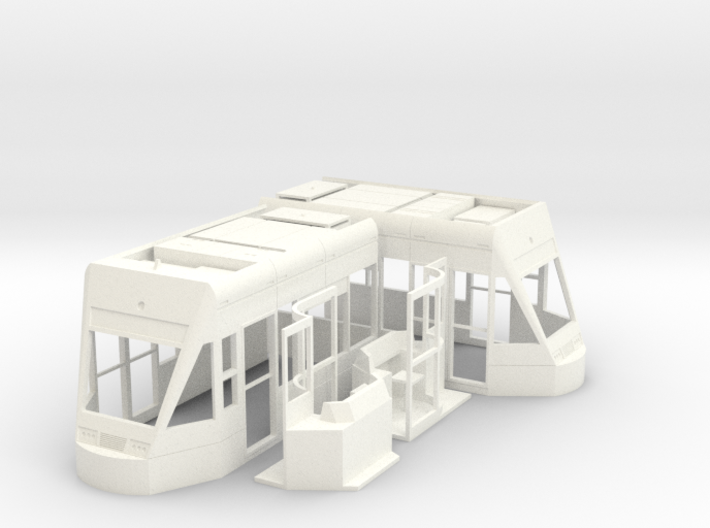 'OO' Freelance Tram - Driving Car 3d printed