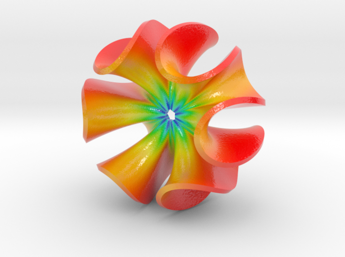 Wrapped Ruffle Color Sculpture 3d printed