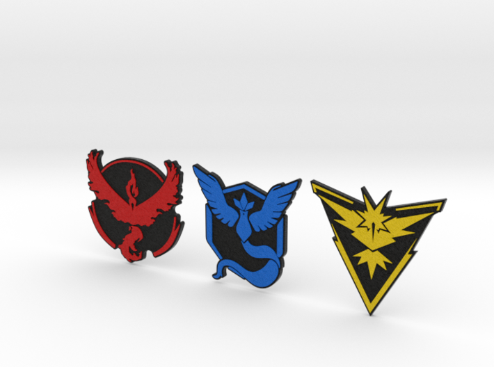 Pokemon Go - All Team Badges 2 3d printed