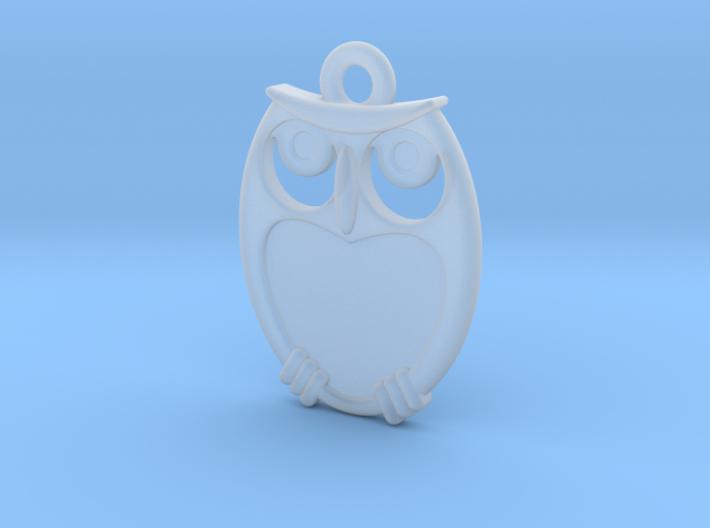 small owl pendant 3d printed