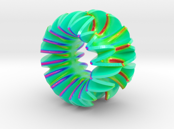 Harmonic Ruffle 01 Color Sculpture 3d printed