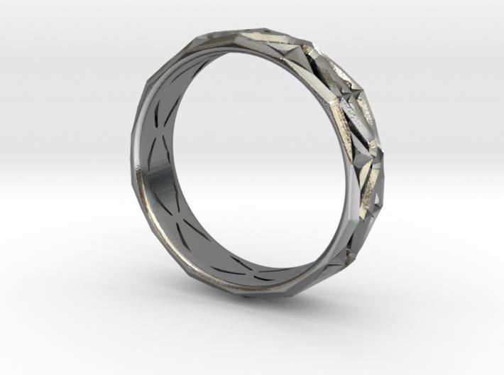 Cut Facets Ring Sz. 6 3d printed