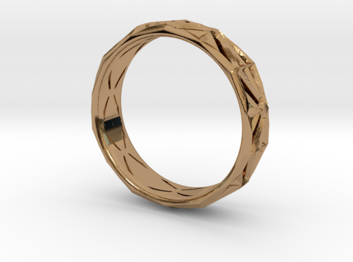 Cut Facets Ring Sz. 6 3d printed