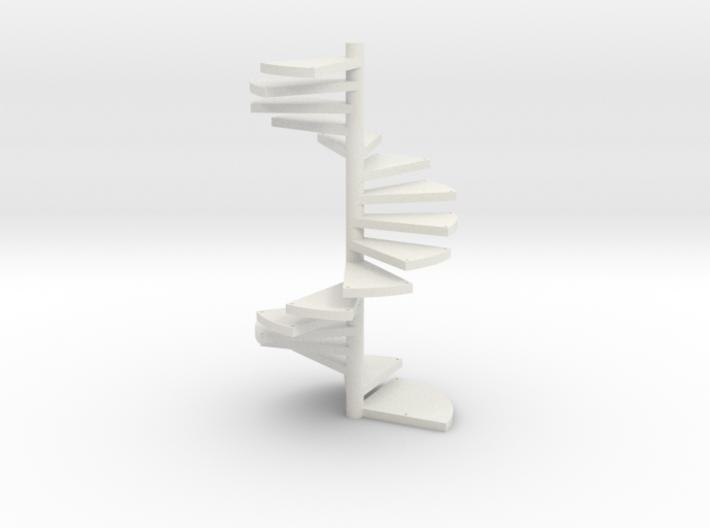 Wendeltreppe (16 Elemente+kopf) Kein Loch 3d printed