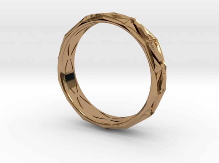 Cut Facets Ring Sz. 9 3d printed