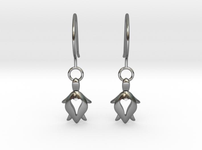 Holy Turtle Heart Earrings 3d printed