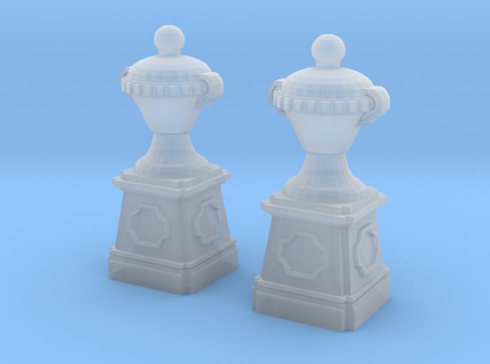 Garden vase with lid (2x) (TT 1:120) 3d printed