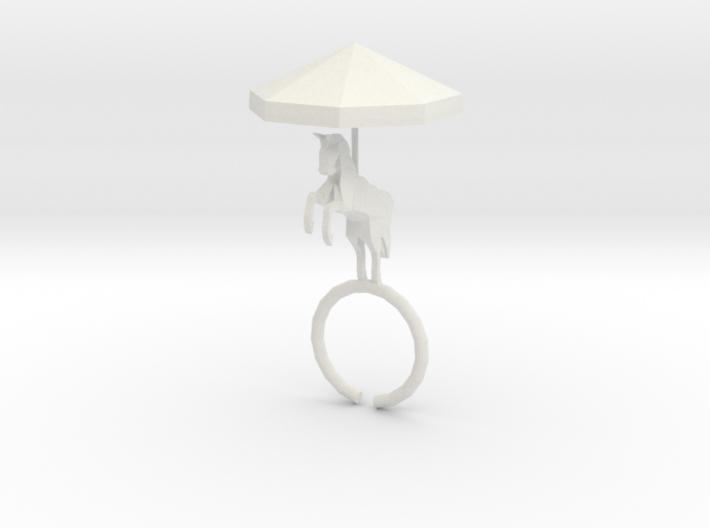 Carousel Ring 3d printed