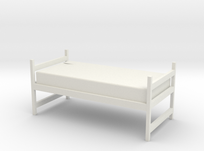 1:48 Twin Dorm Bed 3d printed
