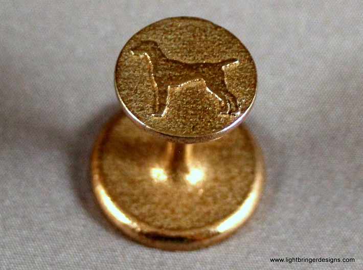 Vizsla (dog) Wax Seal 3d printed Vizsla (dog) wax seal up close