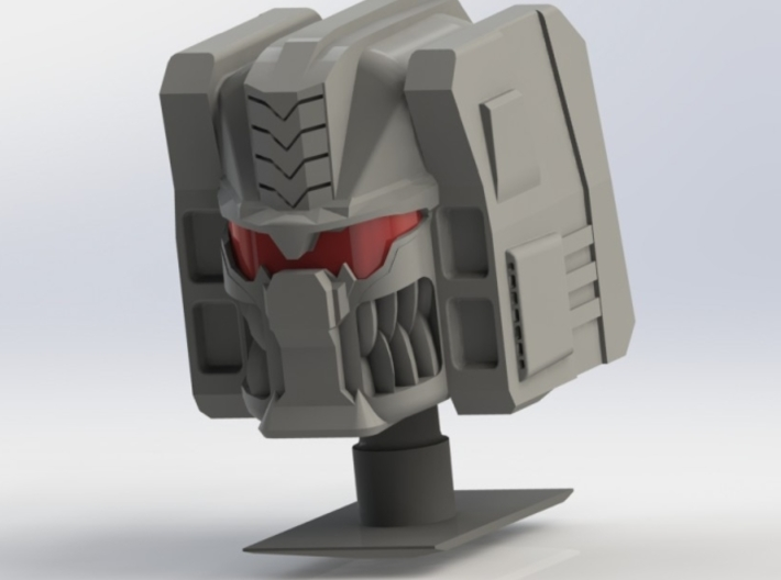 FOC Grimlock Head Kit 3d printed Assembled Model