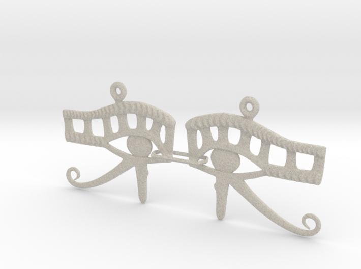 Eye Of Horus EarRings - Pair - Plastic 3d printed