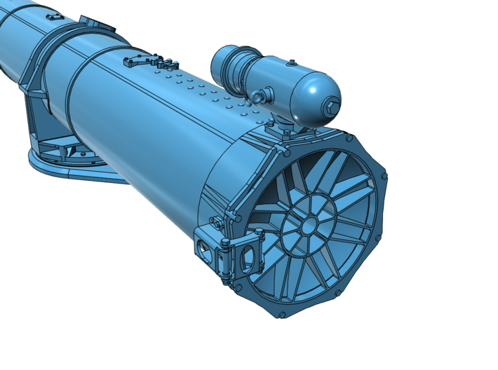 1/48 Torpedo Tubes (aft pair) for PT Boats 3d printed