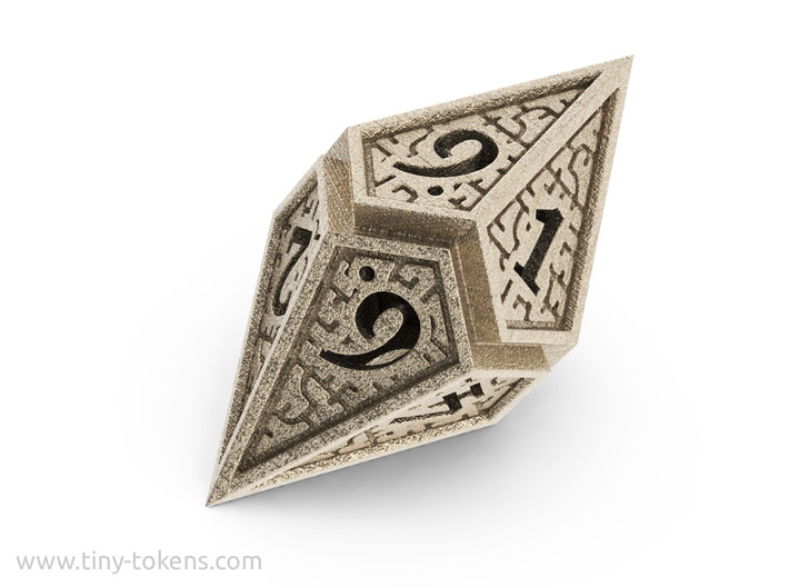 Hedron D10: Open (Hollow), balanced gaming die 3d printed