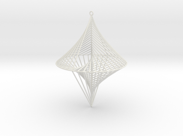 String Sculptures Pendant - Straight Line Curve 3d printed