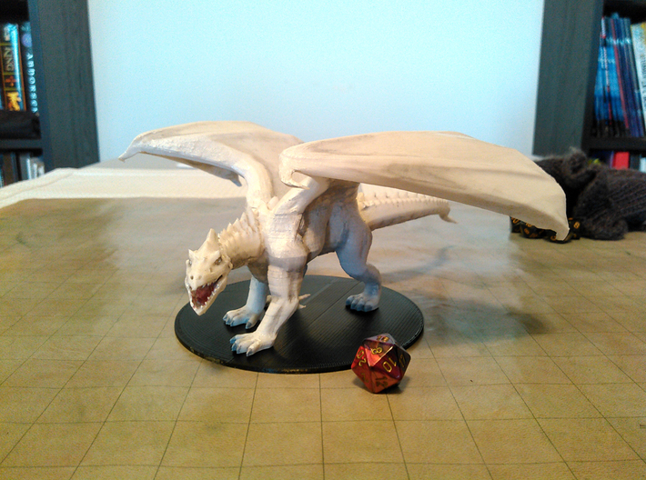White Dragon (Updated) 3d printed