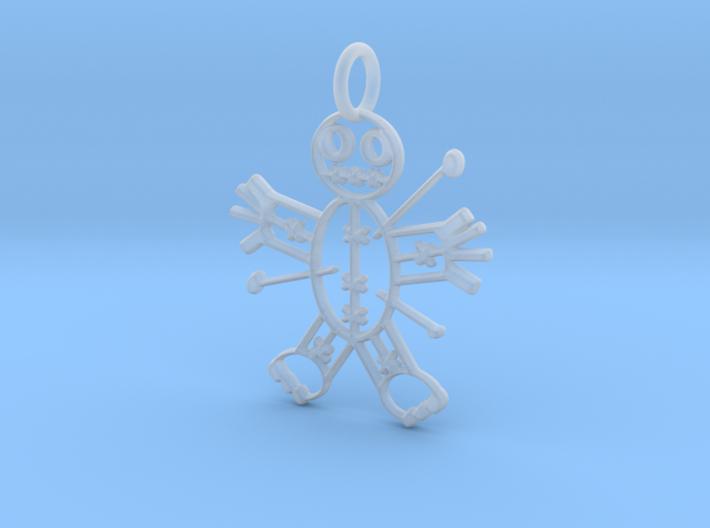 Voodoo Doll of Halloween Pendant 3d printed