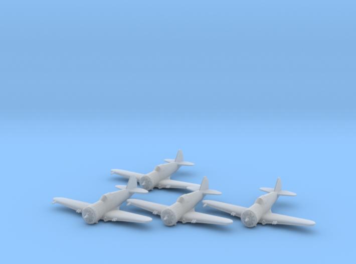 Curtiss P-36 'Hawk' 1:200 x4 FUD 3d printed
