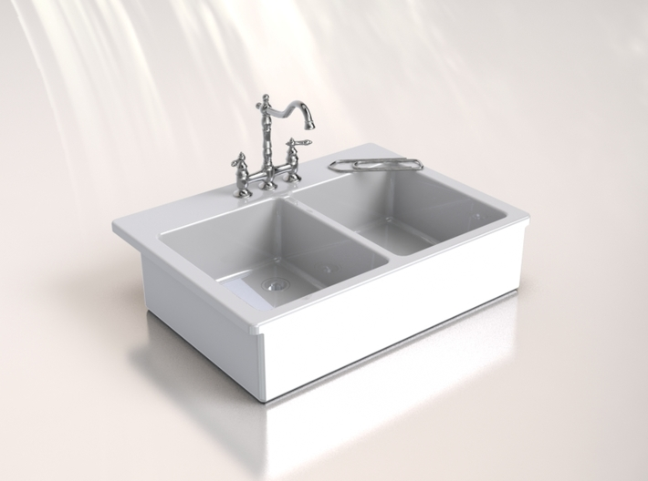 Miniature Doll House Kitchen Sink C, 1:12 3d printed