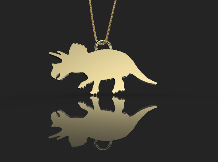 Triceratops necklace Pendant 3d printed