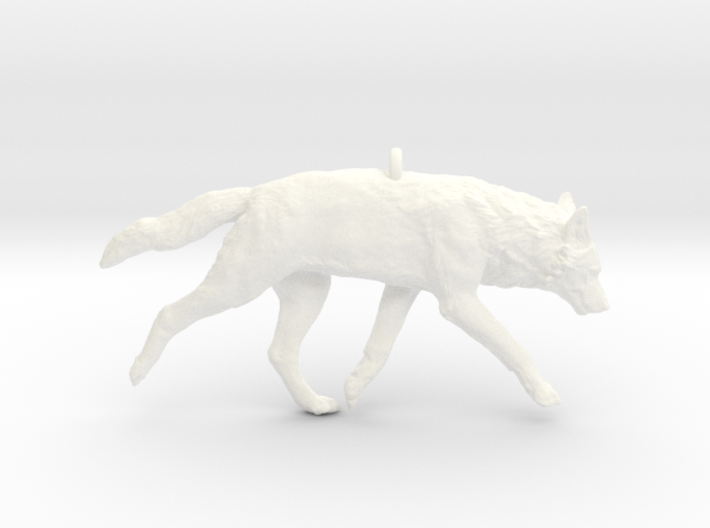 Trotting wolf 3d printed